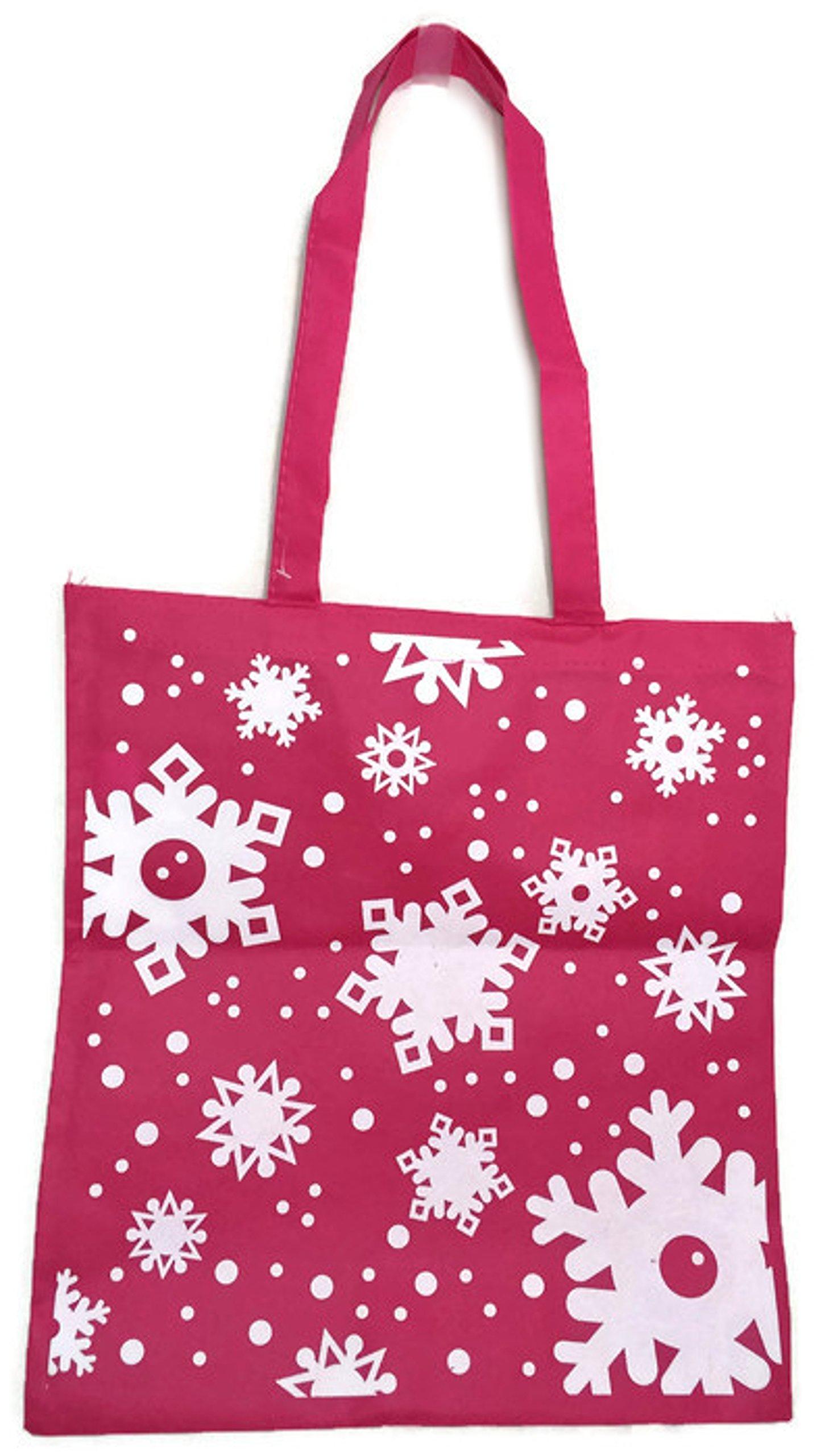 Large Snowflake Totes (Pink)