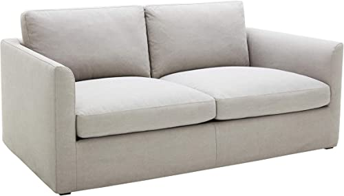 Stone Beam Faraday Down-Filled Casual Loveseat, 75 W, Light Grey
