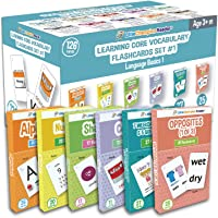 Set 1 Flash Cards for Toddlers - 126 ABC Alphabet, Numbers, Colors, Shapes, Week Days, Months of The Year, Question…