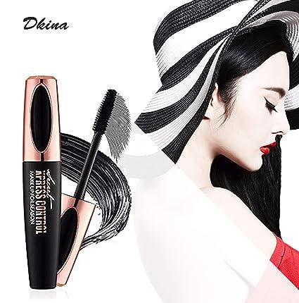 Dkina Máscara de Pestañas Lash Sensational con Fibras de 4D Mega Volumen Colágeno Extensiones.