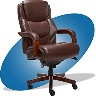 product image for La-Z-Boy Delano Big & Tall Executive Office Chair | High Back Ergonomic Lumbar Support, Bonded Leather, Brown | 45833 model