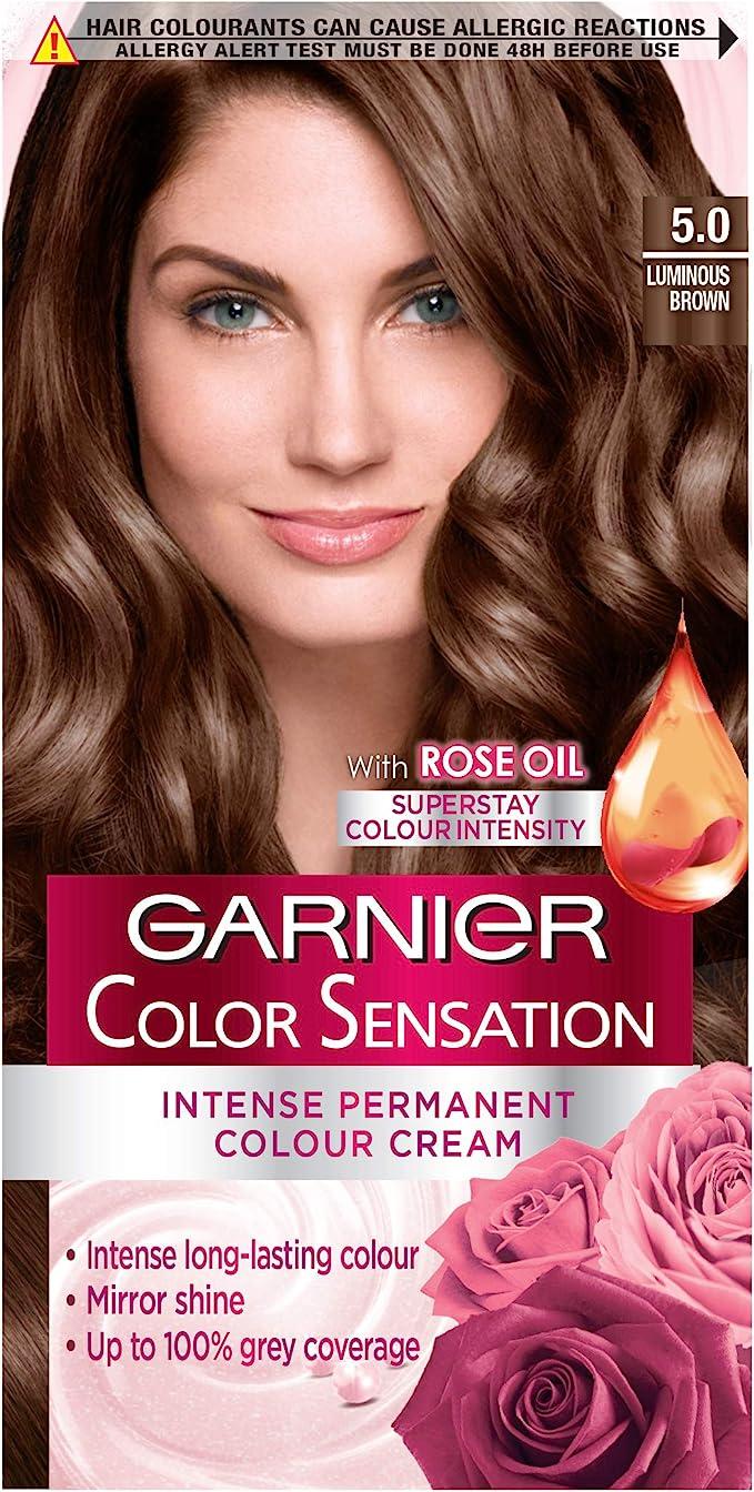 Garnier Color Sensation Brown Tinte para el cabello Permanente 5.0 Marrón luminoso