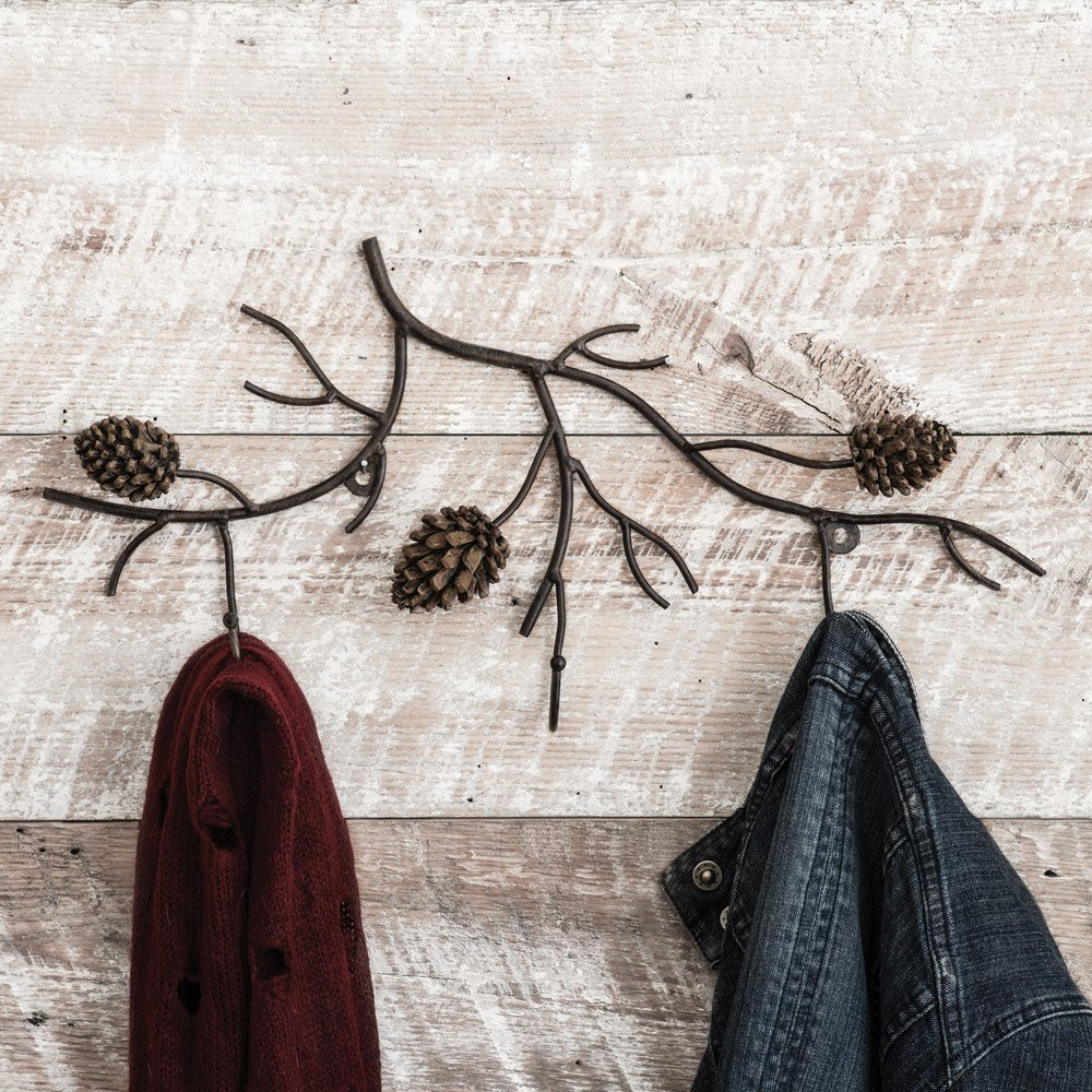 Pine Branches Wall Rustic Coat Rack - Rustic Decor