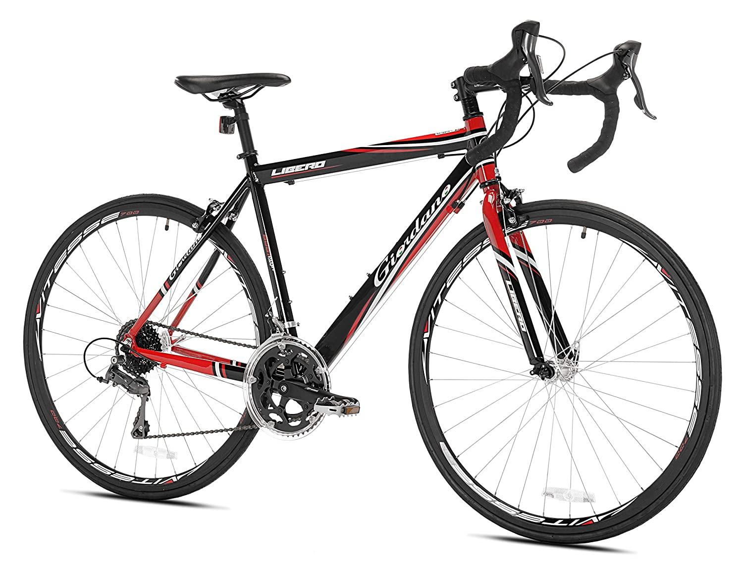 bfe3f201003 Amazon.com : Giordano Libero 1.6 Road Bike, Black/Red, 51cm/Small : Sports  & Outdoors