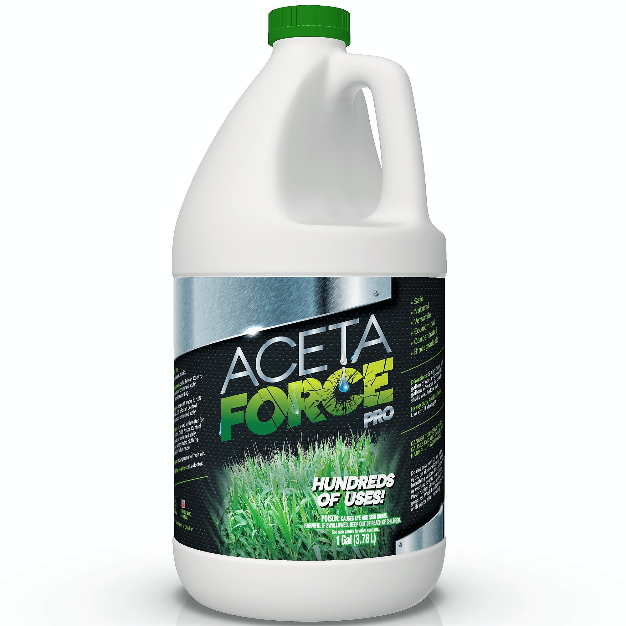 ACETA FORCE | Industrial Strength 30% Natural Acetic Acid Vinegar For Home & Garden (1 Gallon) by EcoClean Solutions