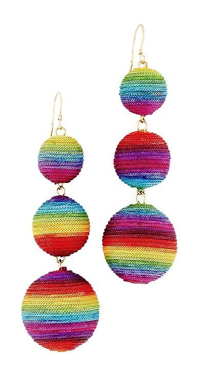 Kenneth Jay Lane Rainbow Triple Drop Earrings jOp8HnDq
