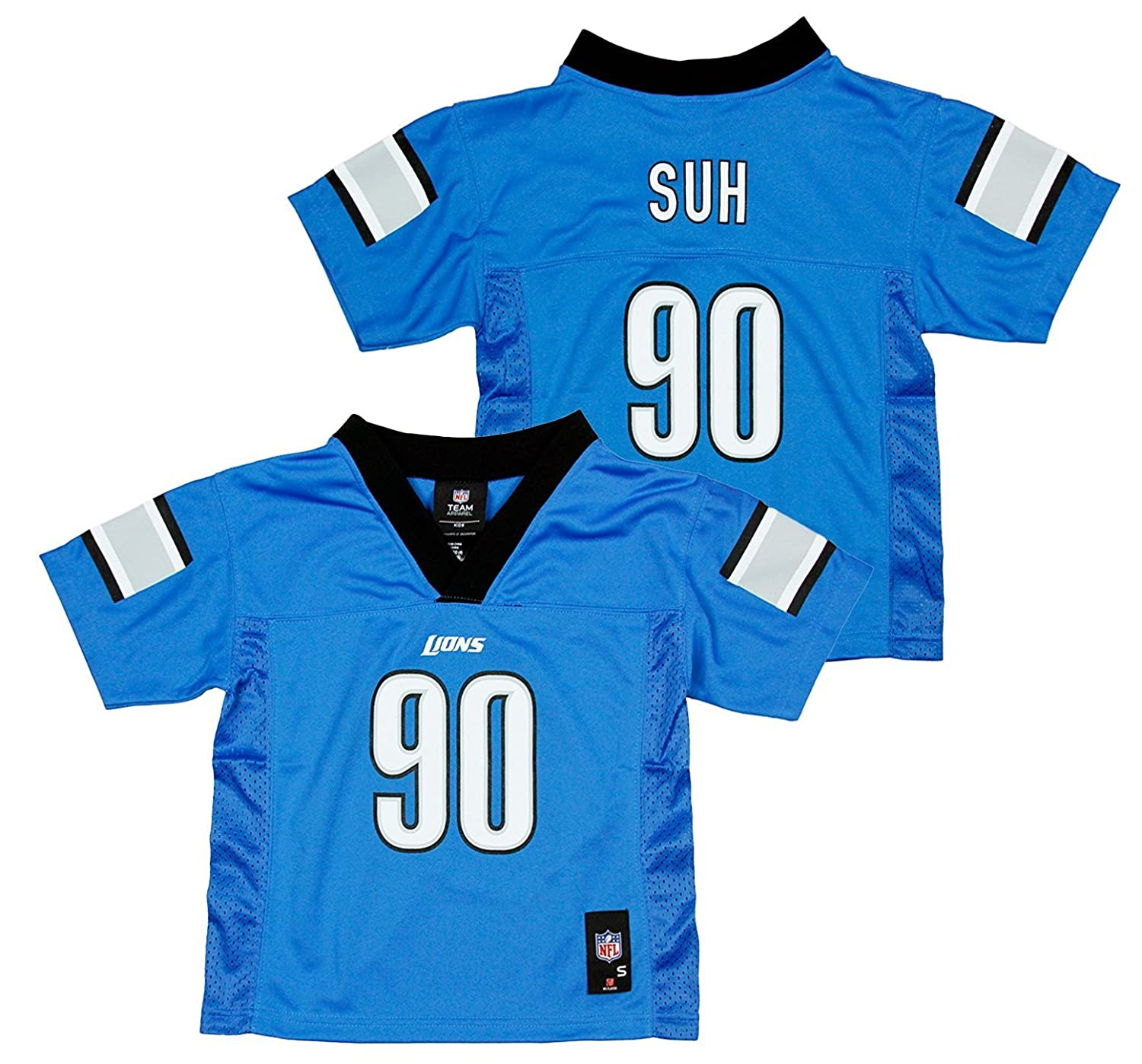 Amazon.com  Outerstuff Ndamukong Suh Detroit Lions Blue Youth Mid Tier Home  Jersey  Clothing 12548d171