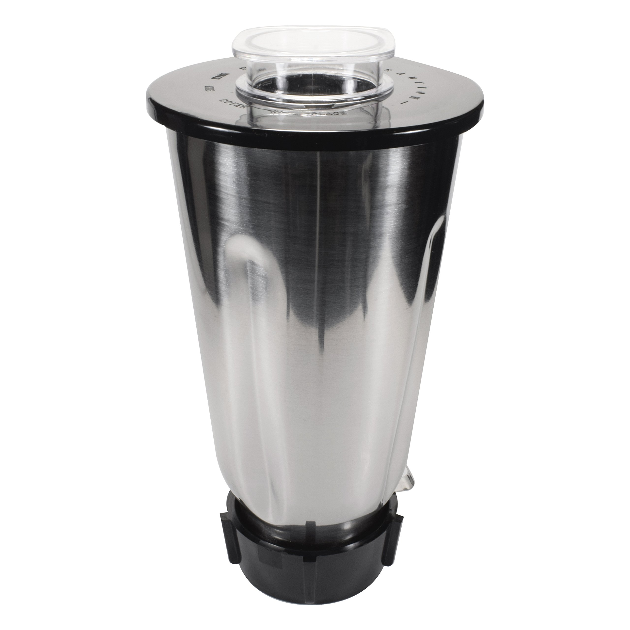 Univen Stainless Steel Blender Jar with Lid and Bottom cap fits Oster & Osterizer