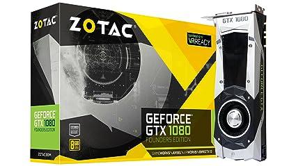 ZOTAC GeForce GTX 1080 Founders Edition, ZT-P10800A-10P, 8GB GDDR5X Dual