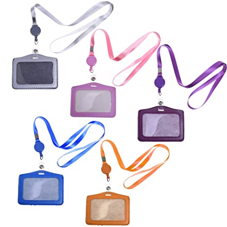 Business ID Badge Card Holder Lanyard Vertical Neck Strap Simple Hanging Rope