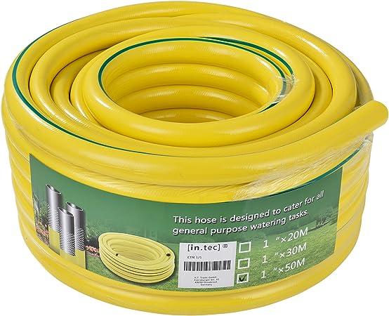 in.tec] Manguera para jardín PVC 3 Capas (Longitud 50m) (Ø) 1: Amazon.es: Hogar