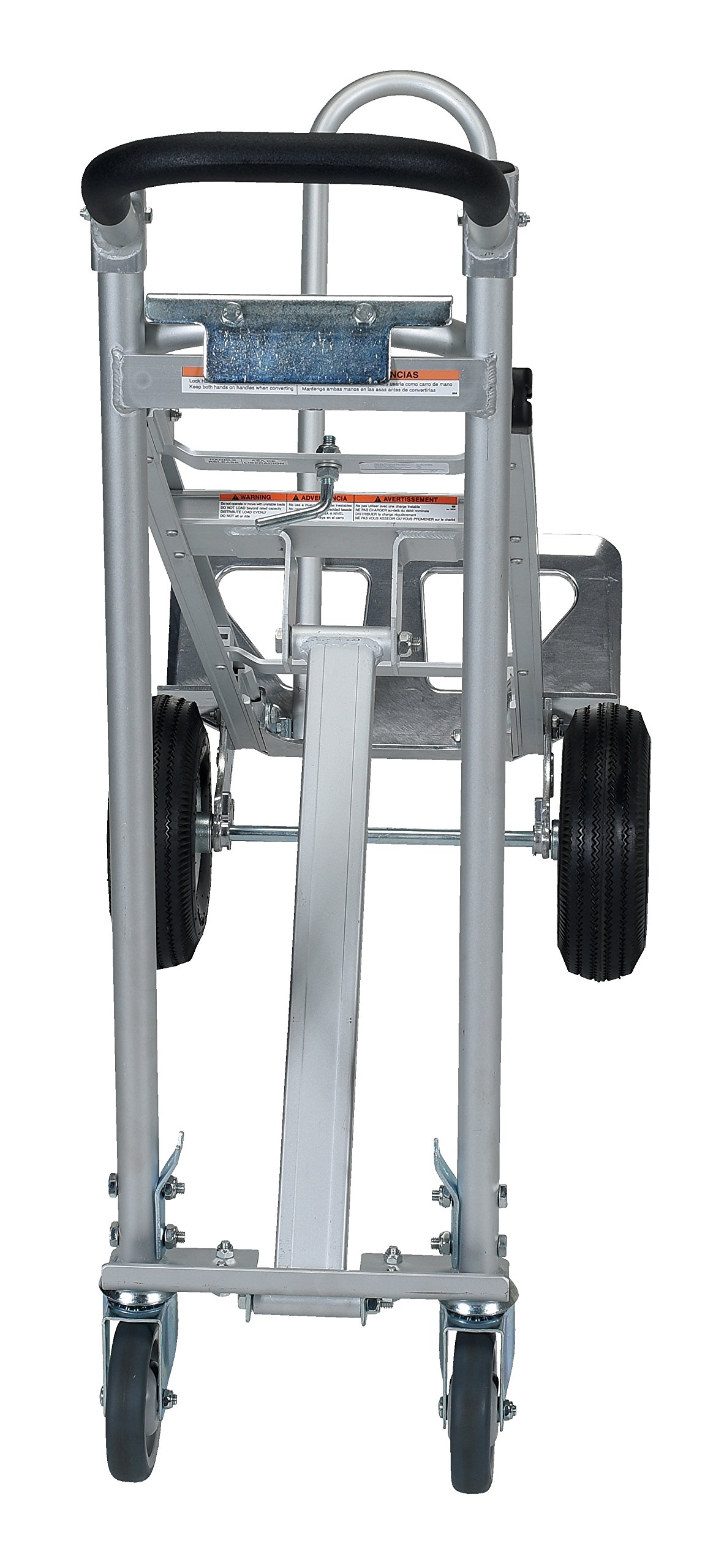 Vestil CAHT-500 Aluminum Convertible Hand Truck with Dual Handles, 500 lb. Load Capacity, 54'' Height, 20'' Width X 20'' Depth