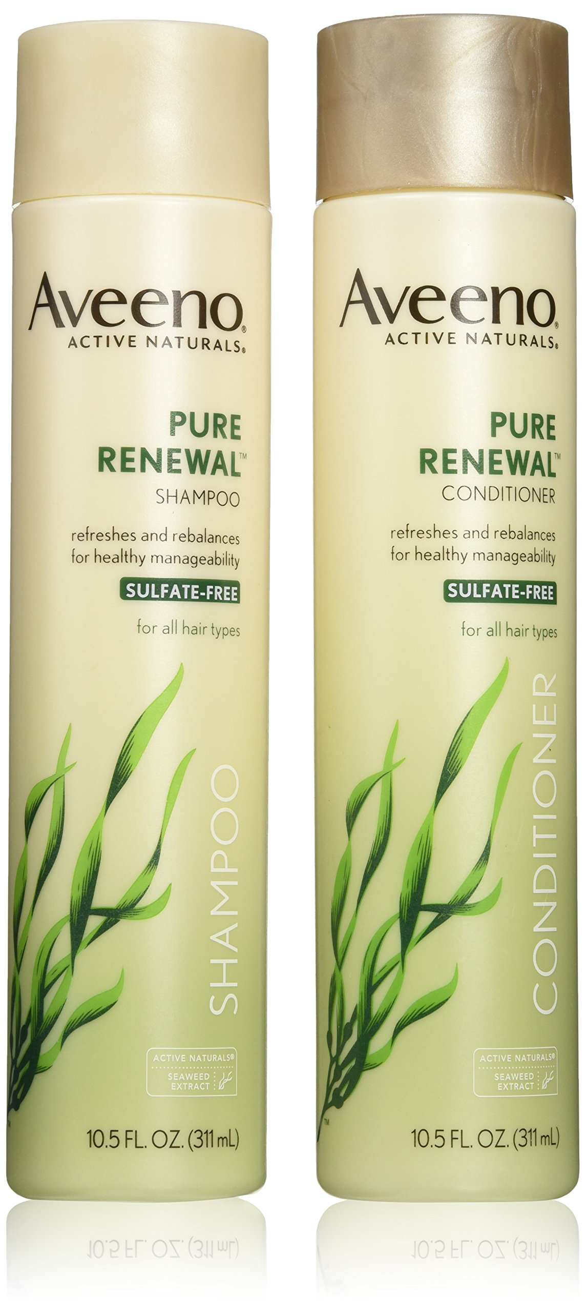 Aveeno Active Naturals Pure Renewal Shampoo and Conditioner Set, 10.5 Fluid Ounce each by Aveeno