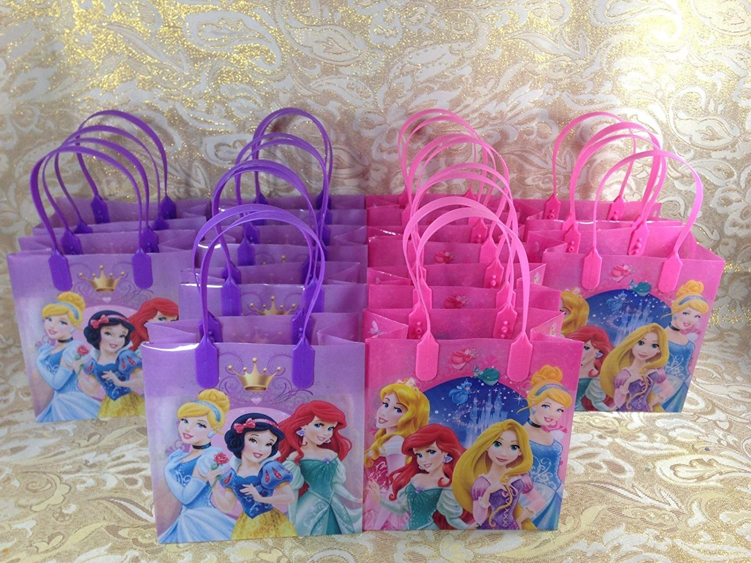 Disney Princess Party Favor Bags for 24 Guests
