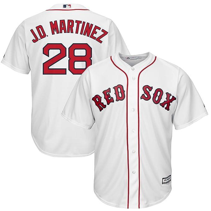 Amazon.com  Majestic Athletic Men s Boston Red Sox  28 JD Martinez Home Baseball  Jersey - White Size 40  Clothing c081f47cb34