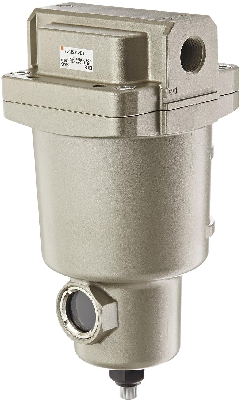 SMC AMG450C-N04 Water Separator, Manual Drain, 2,200 L/min, 1/2' NPT 1/2 NPT