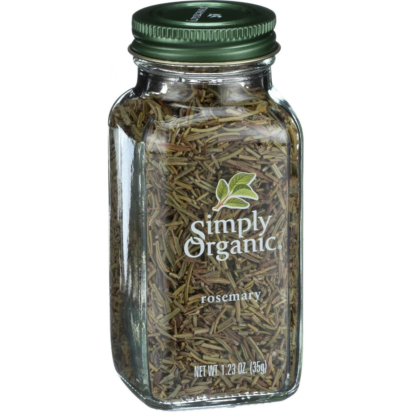 Simply Organic Rosemary Leaf- Organic - Whole - 1.23 oz (Pack of 4)
