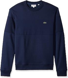 90936229e2a9a Lacoste Men s Long Sleeve Multi Color Block Sweatshirt at Amazon ...