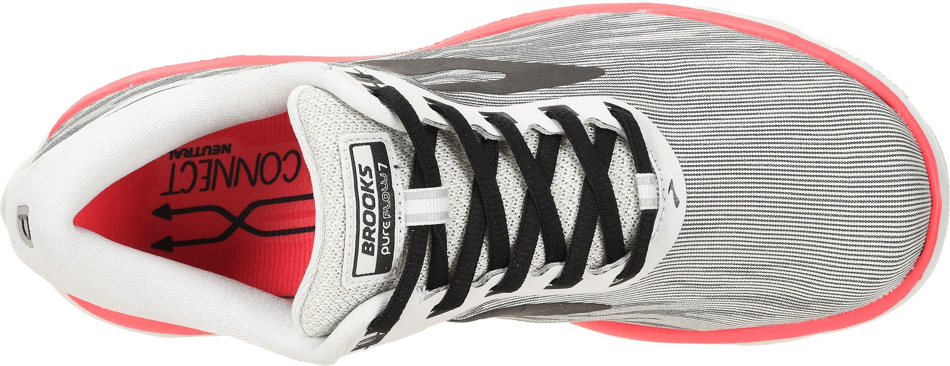 Brooks Women's PureFlow 7 Grey/Black/Pink 8.5 B US by Brooks (Image #2)