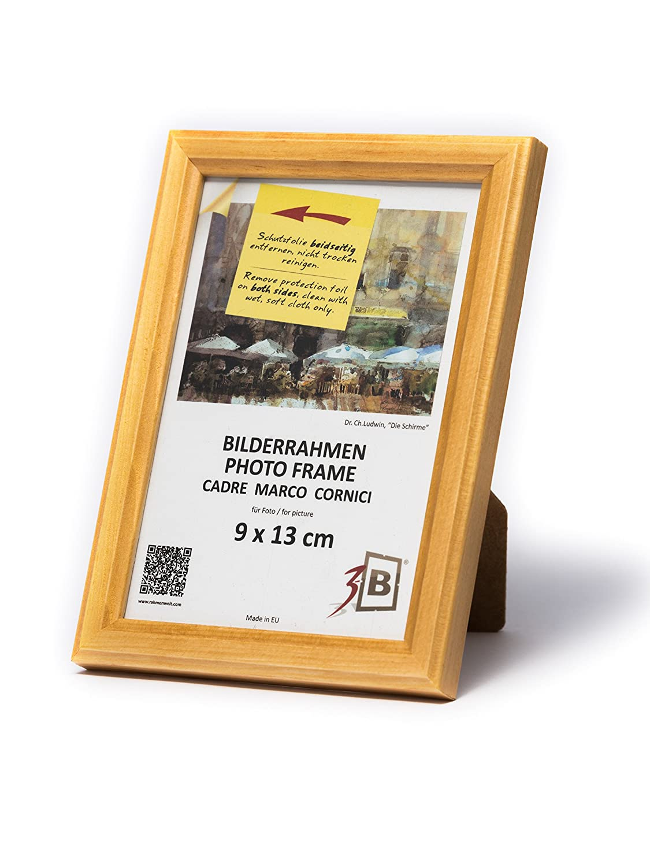 3-B Set 3 Stk. Bilderrahmen Jena - 9x13 cm - Natur - Holzrahmen ...