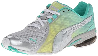 PUMA Women's Volita Women's Training Shoe,Glacier Gray/White/Electric  Green/Sunny