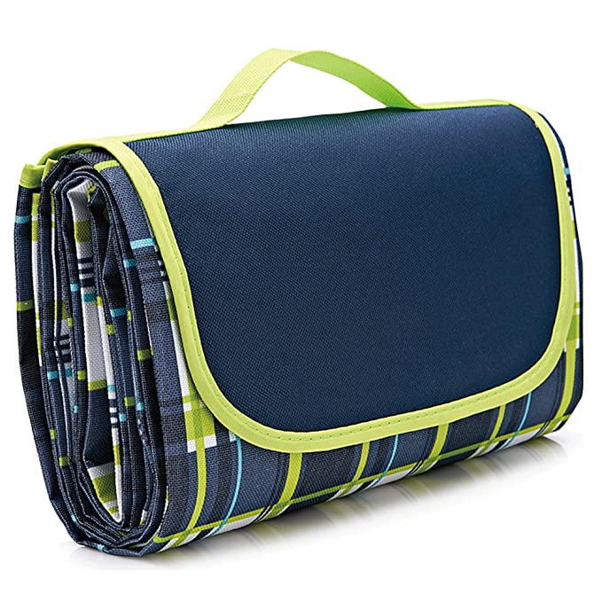 NaturalRays 80x60 Family Waterproof Picnic Blanket - Extra Strong and Roomy