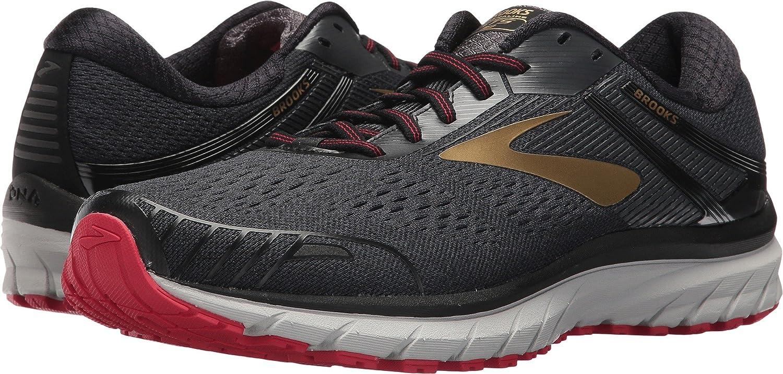 Brooks Men's Adrenaline GTS 18 Running Shoe Wide 2E B07143ZWWJ 8 D(M) US|Black/Gold/Red