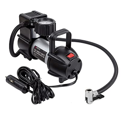 Wagan EL7312 Black and Silver 12V Direct Drive Air Compressor 88: Automotive [5Bkhe2014632]