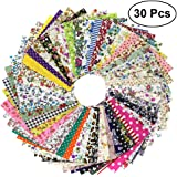 rosenice de tela patrón de cuadrados Patchwork DIY costura y manualidades colchas Artcraft 30pcs