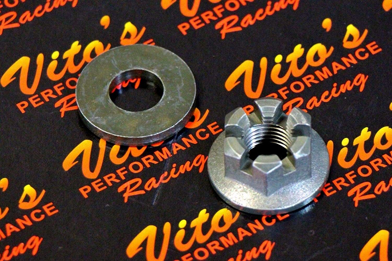 Vitos Performance 1 x axle Castle hub nut Washer Yamaha Banshee Blaster Raptor