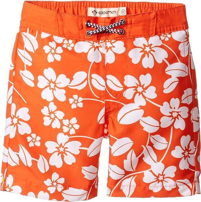 6694c15542 Amazon.com: Appaman Kids Baby Boy's Island Floral Swim Trunks  (Toddler/Little Kids/Big Kids) Orange Swimsuit Bottoms: Clothing
