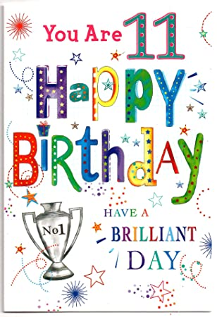 Birthday Card For Eleven 11 Year Old Boy Free 1st Class Post Uk