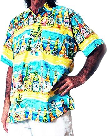 "new stag night LOUD HAWAIIAN men/'s shirt with tropical beer bottles XXXL 58/"""