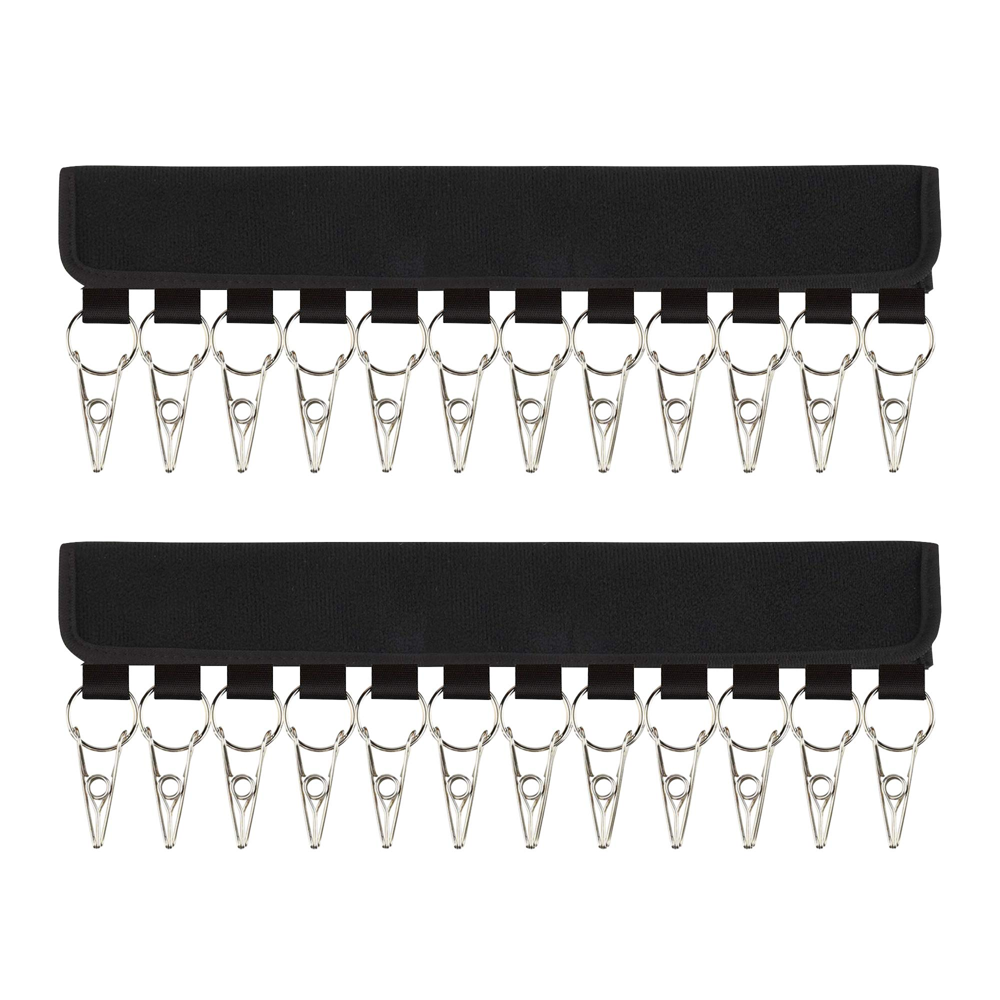 B.SHINE Hat Rack Cap Organizer - 12 Clips Hanging Baseball Caps Holder with Dust Cover, up to 24 Hats