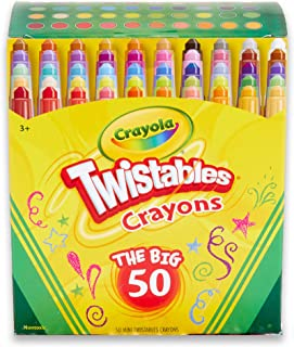 product image for Crayola Twistables Crayons Coloring Set, Kids Indoor Activities At Home, 50 Count