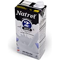 Natrel | 2% Milk | 32 Ounce | Pack of 6 | Shelf Stable Milk | Gluten-Free | Kosher | Non-GMO | No Refrigeration Needed | Fresh Taste that Lasts for Months | Made in the U.S.A