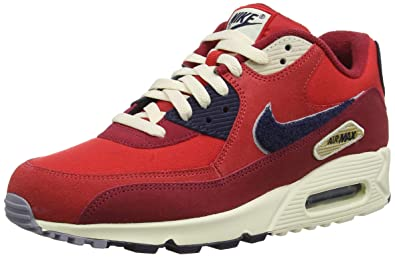 cbb1cf1122cc6 Nike Men's Air Max 90 Premium SE Running Shoe 9.5 Red