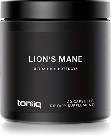 18,000mg 10x Concentrated Ultra High Strength Extract - Made with Organic Lions Mane - 30% Polysaccharides - Highly Concentrated and Bioavailable - 120 Veggie Capsules