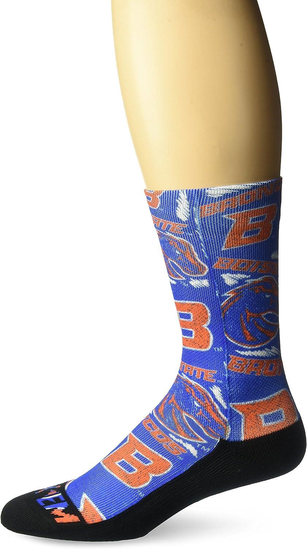 L//XL, Boise State Broncos - Mascot Buster NCAA Super Premium College Fan Socks