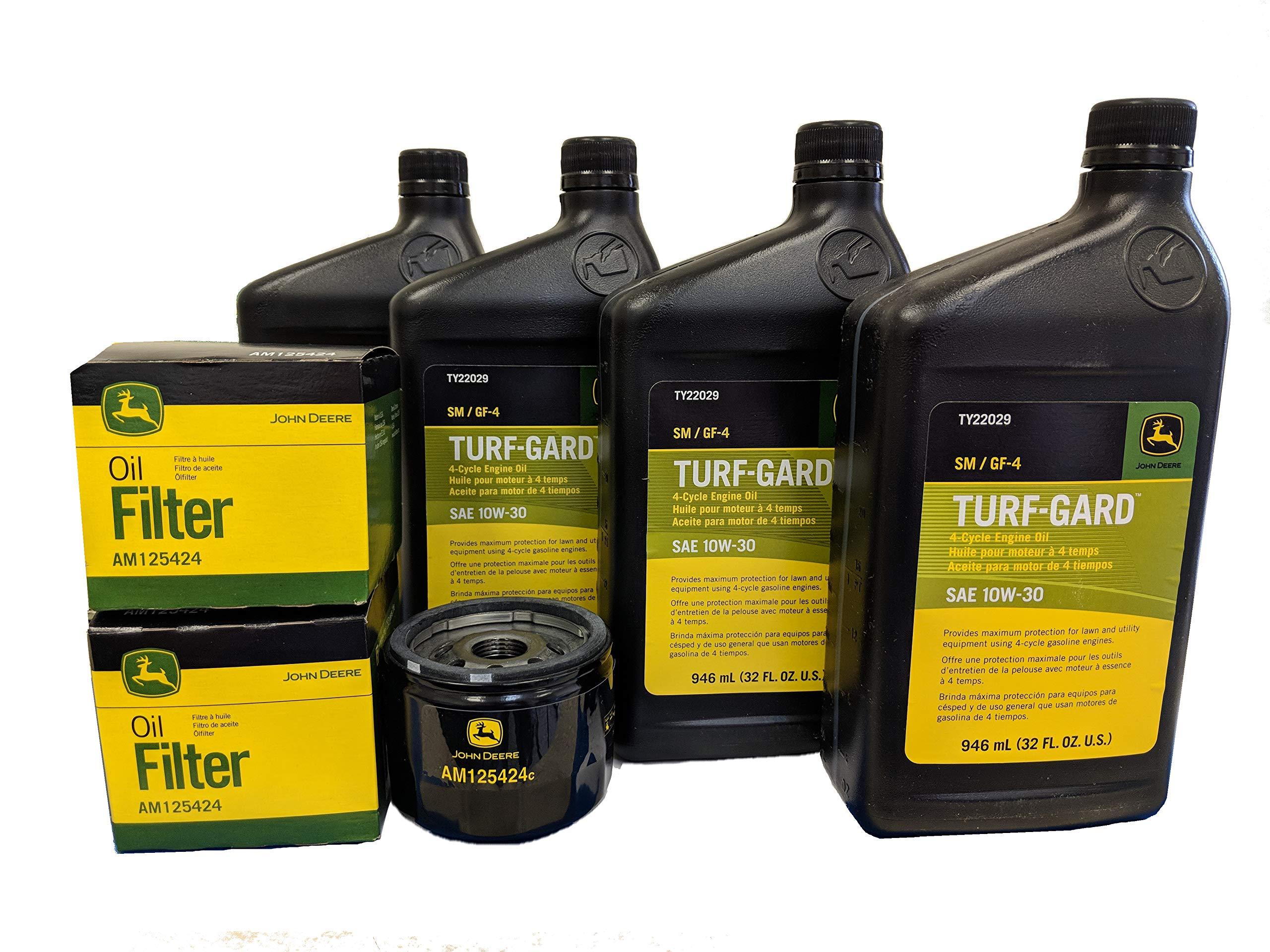 John Deere Original Equipment Double Oil Change Kit - (4) TY22029 + (2) AM125424 by John Deere