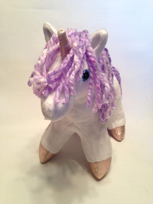 White /& Purple Plush Toy Unicorn