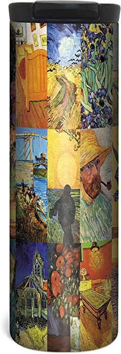 Van Gogh Travel Mug - 17 Ounce Double Wall Vacuum Insulated Stainless Steel
