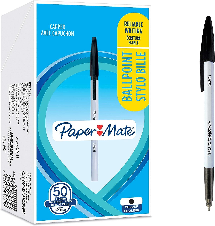 Paper Mate Alfa Retractable Ballpoint Pens   Blue Ink 1.0 mm Medium Point 12 Count