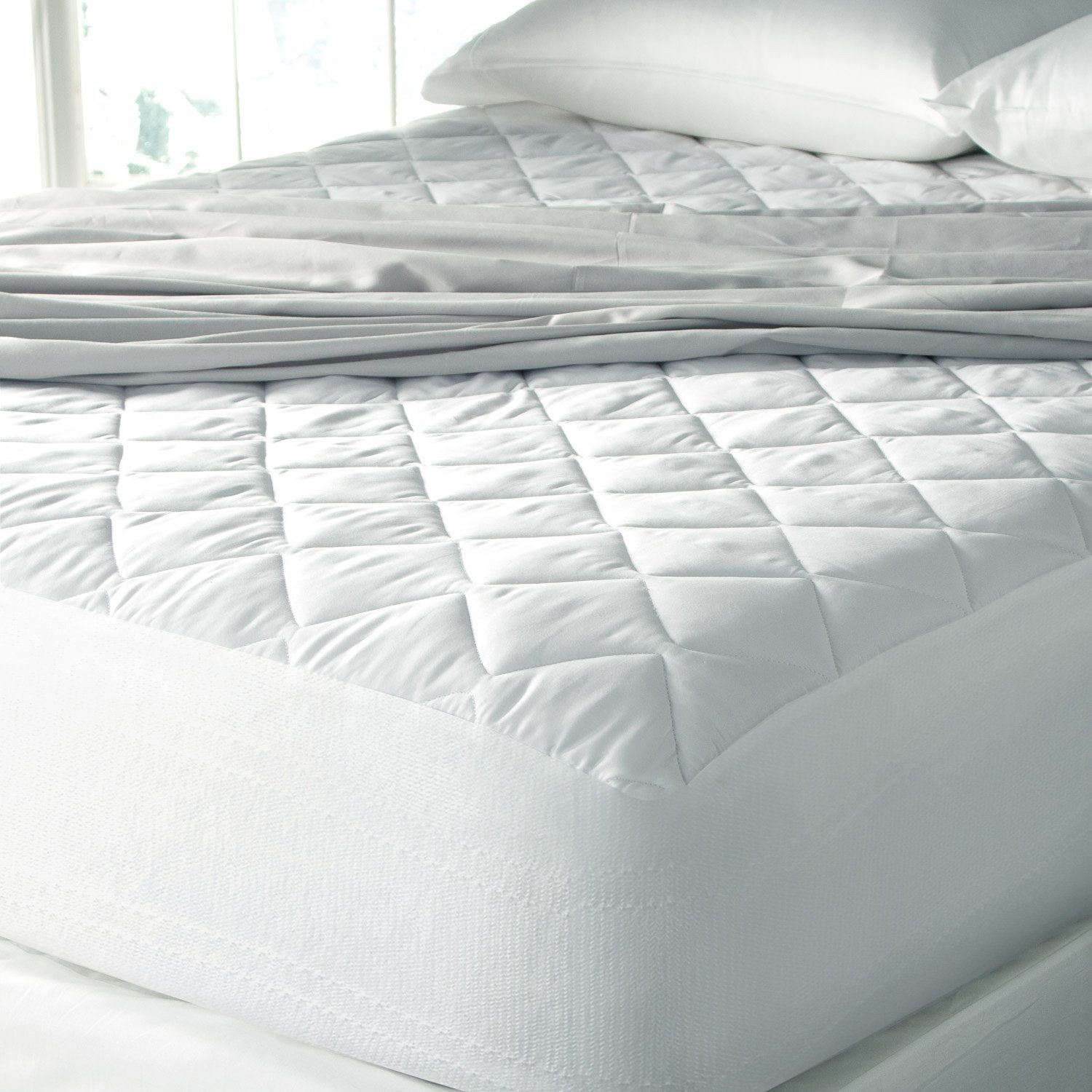 SPA Luxury  Cool Touch Moisture Wicking Mattress Pad - Made In The USA (Queen 60'' x 80'')