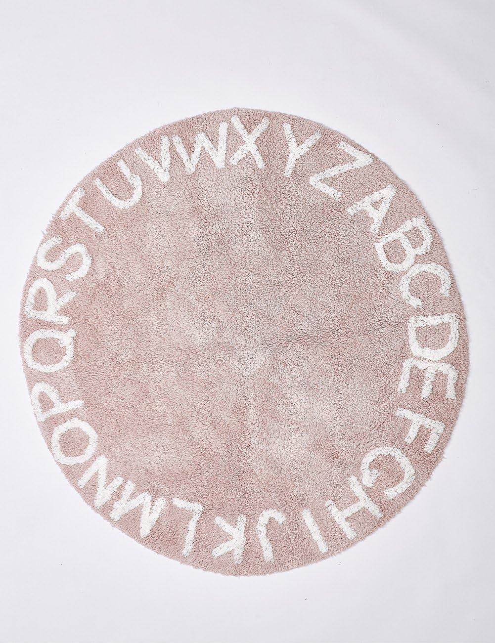 HPYR - Manta para bebé, 26 Letras, Alfombra Redonda de algodón, Alfombra para niños, Tienda de campaña, Alfombra Suave, diámetro 120 cm, Rojo, Rosa, Large: Amazon.es: Hogar