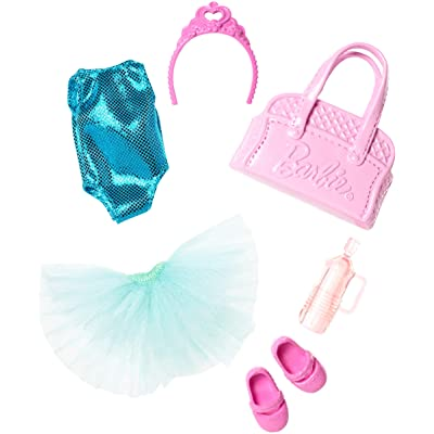 Barbie Club Chelsea Accessory Pack, Ballet-Themed Clothing and Accessories for Small Dolls, 6 Pieces for 3 to 7 Year Olds Include Tutu and Dance Bag: Toys & Games