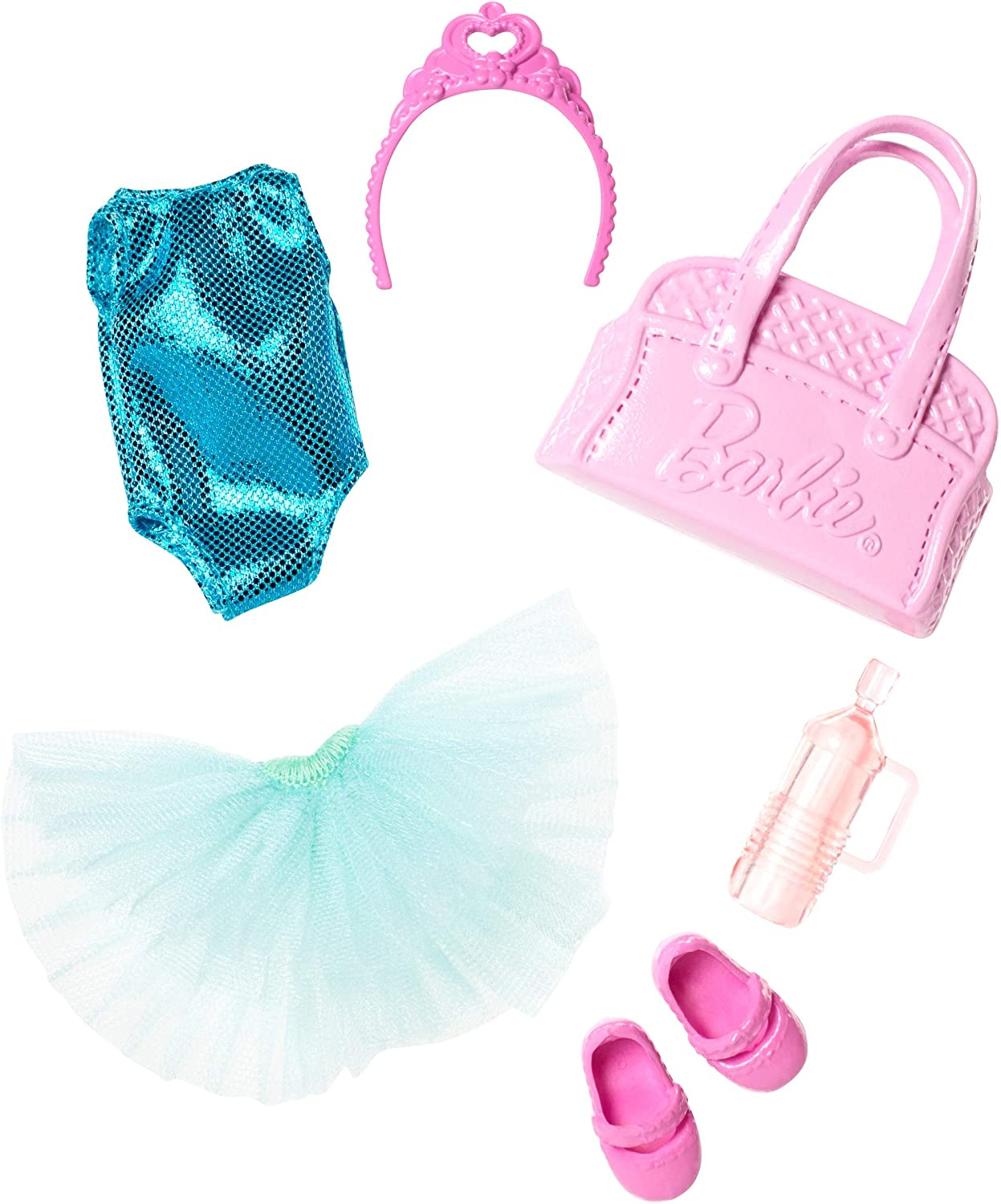 Barbie Club Chelsea Accessory Pack, Ballet-Themed Clothing and Accessories for Small Dolls, 6 Pieces for 3 to 7 Year Olds Include Tutu and Dance Bag