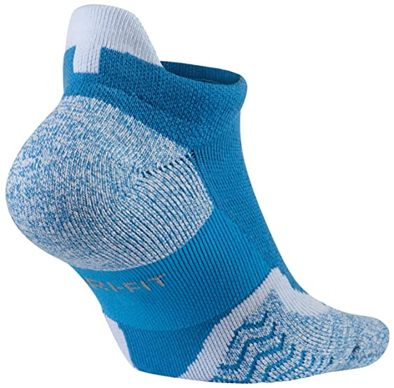 Nike Elite No Show Blue Lagoon/White Tennis Socks