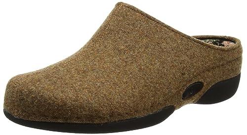 Lunia, Zapatillas de Estar por Casa para Mujer, Beige (Dunkelbeige 745), 42 2/3 EU Berkemann