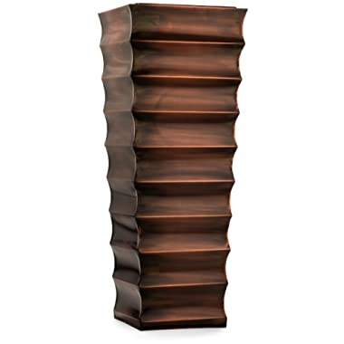 H Potter Decorative Ribbed Outdoor Indoor Flower Planter (Small, Antique Copper)